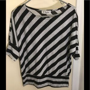 Comfy, lightweight striped top.